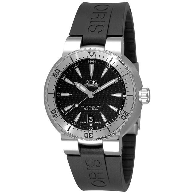 Oris Tt1 Diver Men S Automatic Rubber Strap Watch