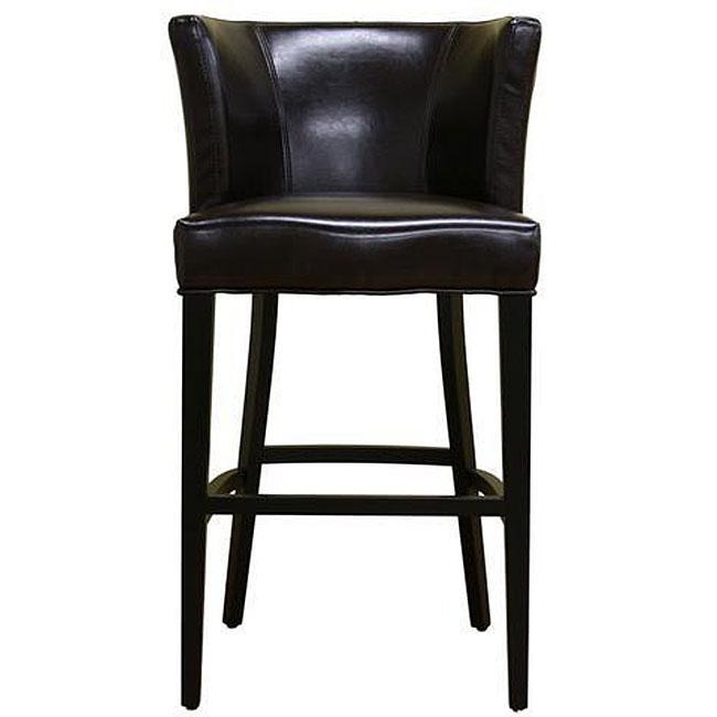Willet Curved Backrest Leather Barstool 12334307