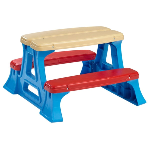 American Plastic Toys Picnic Play Table 12340533 Overstock Com Shopping The Best Prices On American Plastic Toys Kids Outdoor Furniture