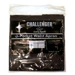 Challenger Black Three Pocket Waist Apron