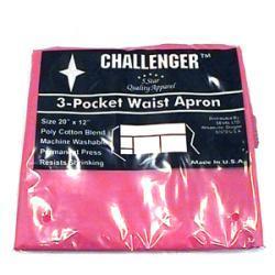Challenger Red Three Pocket Waist Apron
