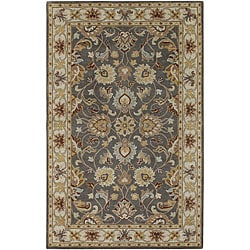 Hand Tufted Coliseum Gray Traditional Border Wool Rug 6