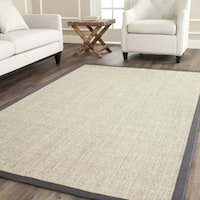 Safavieh Casual Natural Fiber Hand-Woven Serenity Marble / Grey Sisal Rug - 3' x 5'
