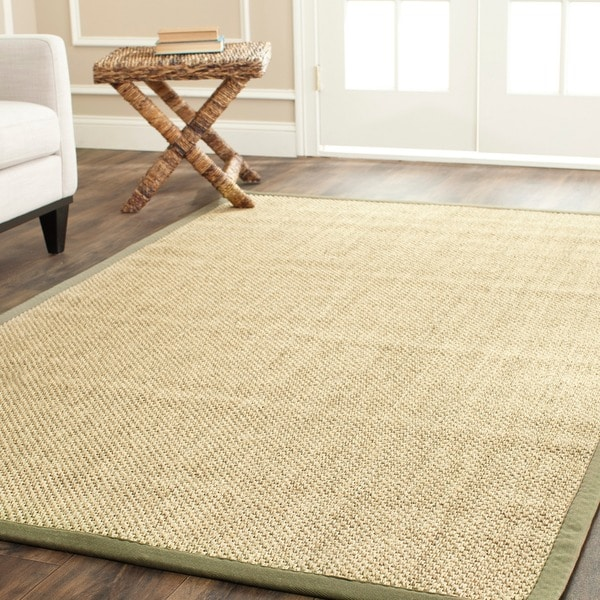 Safavieh Hand-woven Resorts Natural/ Green Tiger Weave