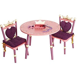 3 Piece Children S Table And Chair Set With Reversible Top