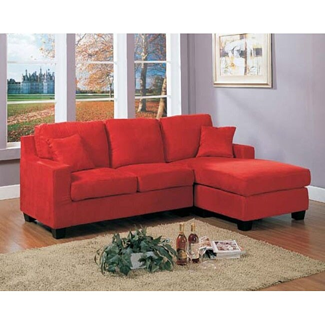 Red Anthony Sectional Sofa 12359397 Overstock Com