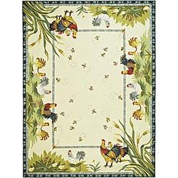 Bergerac Rooster Three Piece Kitchen Rug Set 14207131