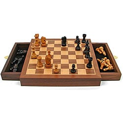 Carved Soapstone 10 Inch Chess Set India 1012688