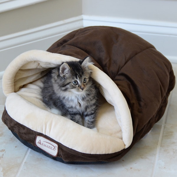 Armarkat Slipper Shaped Mocha Pet Bed 12375607