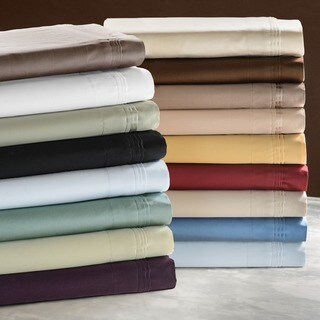 Superior Egyptian Cotton 650 Thread Count Split King Solid Deep Pocket Sheet Set