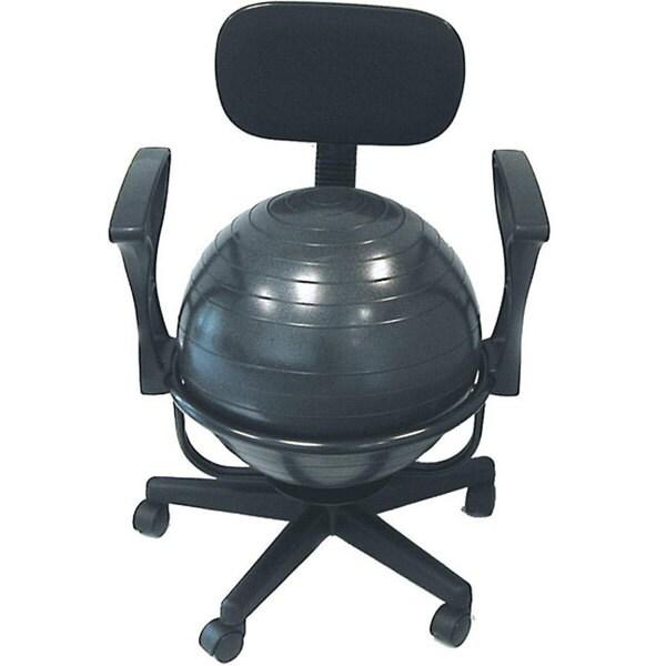 Stability Ball Desk Chair: Cando Ball Office Chair