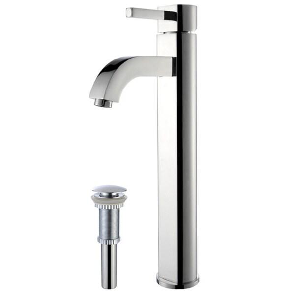KRAUS Ramus Single Hole Single-Handle Vessel Bathroom Faucet with Pop-Up Drain