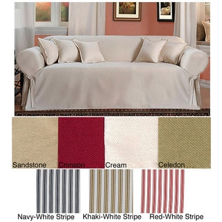 Brushed Twill Sofa Slipcover Overstock Shopping Big