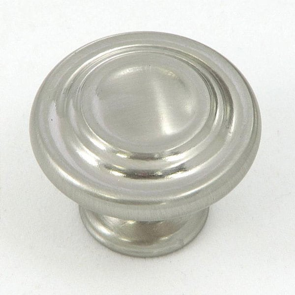 Overstock Kitchen Cabinet Hardware: Stone Mill Satin Nickel 3-ring Cabinet Knobs (Pack Of 10