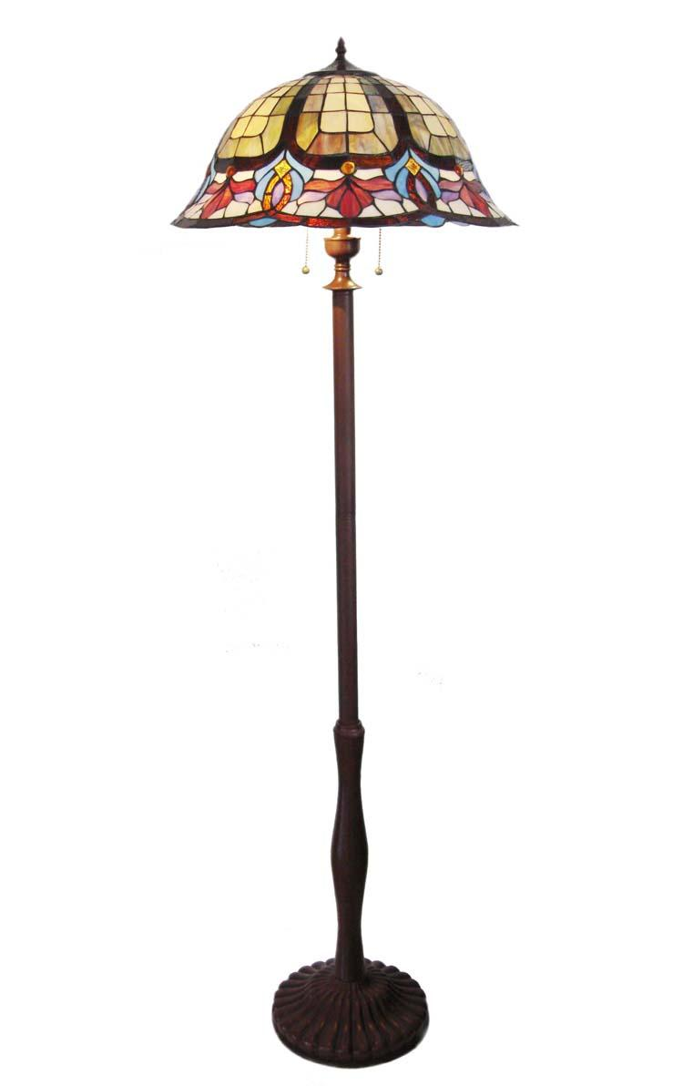 Tiffany Style Victorian Design Bronze Finish Floor Lamp