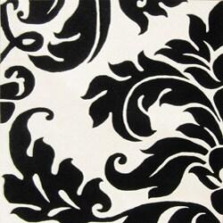 Alliyah Handmade Off White New Zealand Blend Wool Rug Wool