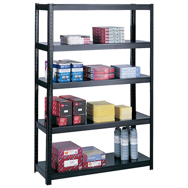 Safco Black Boltless 48x18 Inch Shelf Unit 12581199 Overstock Com Shopping The Best Prices