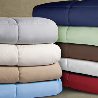 Double-stitched Microfiber Hypoallergenic Down Alternative Comforter