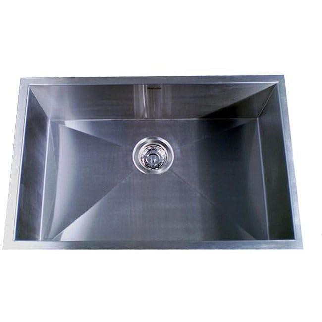 Zero Radius Single Bowl 28 Inch Kitchen Sink 12591731