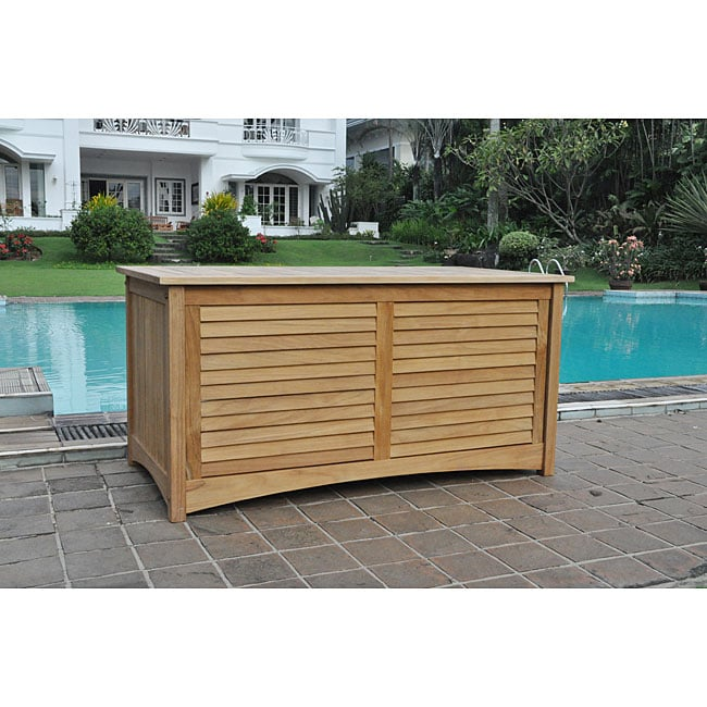 Teak Outdoor Storage Box 12591865 Overstock Com