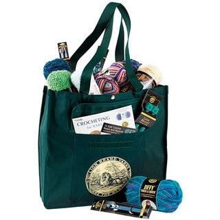 Lion Brand Green Yarn Tote Bag 12603475 Overstock Com