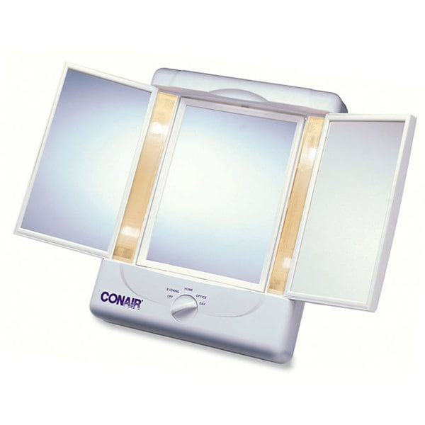 Conair Illumina Collection 1x 5x Lighted 3 Panel Make Up