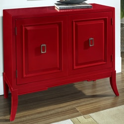 Hand Painted Accent Chest With Faux Metal Front 11527300