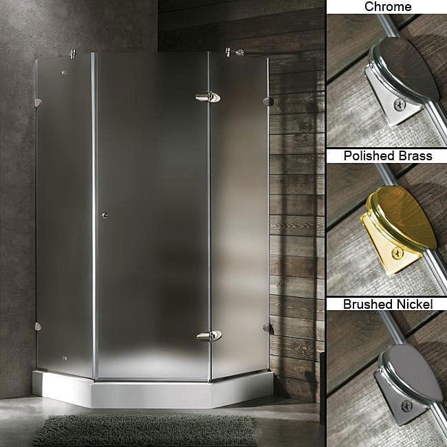 Vigo 42 X 42 Frameless Neo Angle 3 8 Inch Frosted Shower