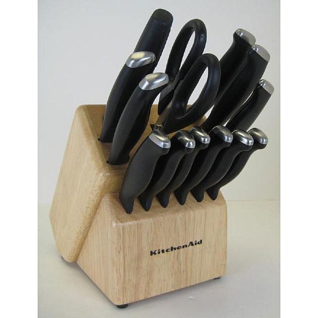 Kitchenaid 16 Piece Stamped Derlin End Cap Cutlery Set