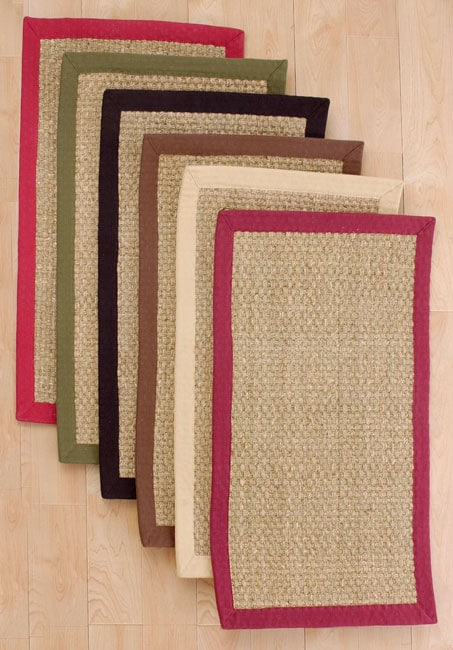 Basketweave Seagrass Rug 8 X 10 Overstock Shopping