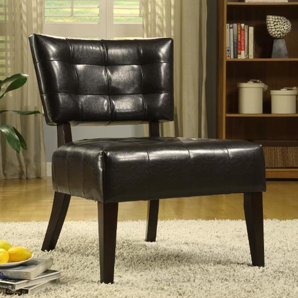 Tribecca Home Charlotte Brown Faux Leather Armless
