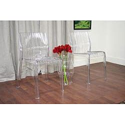 Dolly Clear Acrylic Chairs Set Of 2 12661763