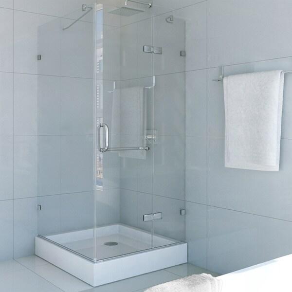 Vigo Frameless Square Clear Shower Enclosure And Base 32
