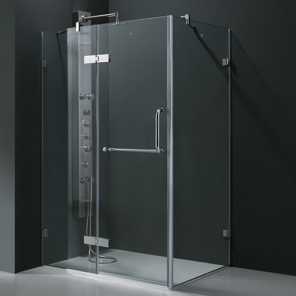 Vigo Frameless Clear Tempered Glass Shower Enclosure 36