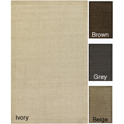 Hand Woven Gray Descartes New Zealand Wool Soft Braided