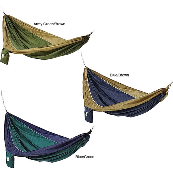 Parachute silk waterproof two person hammock with stuff sack e65a77a8 1841 48b1 bbf7 eec2a5e3700d 600
