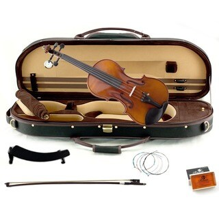 Artist 500 Series 4/4 Full Size Concert Violin with Black Case and Accessory Package