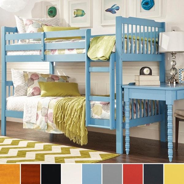 Tribecca Home Simone Twin Size Honey Pine Bunk Beds