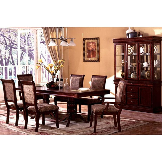 Cherry Dining Room Furniture: Furniture Of America Ravena Oak 7-piece Cherry Dinette Set