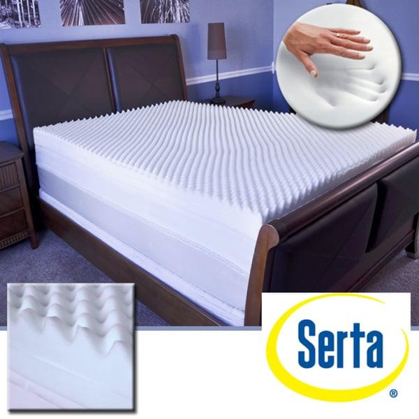 serta restoration 4 inch memory foam mattress topper 12914667 shopping the. Black Bedroom Furniture Sets. Home Design Ideas