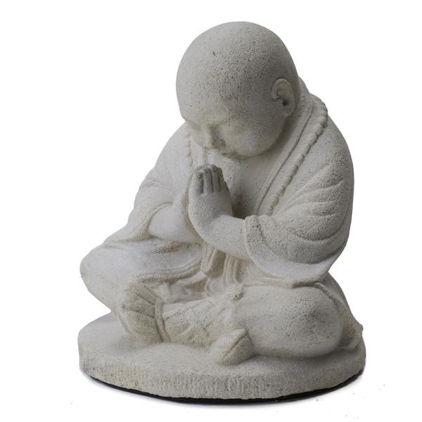 Baby Namaste Praying Monk Sculpture Indonesia 12915053