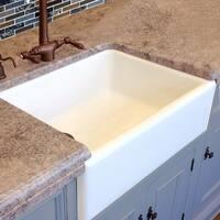 HighPoint White Fireclay 30-inch Farm Sink