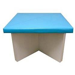 Children S Blue 5 Piece Faux Leather Dining Set 12917871