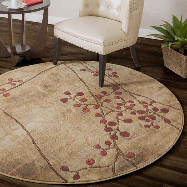 Nourison summerfield latte floral rug 56 round f577faba ca23 41ff 8ebf bbfbbd398945 600