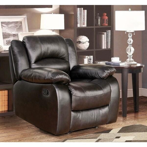 Abbyson Living Brownstone Premium Top Grain Leather