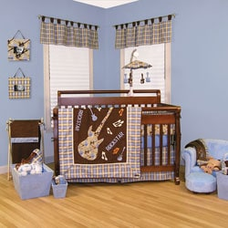 Trend Lab Rockstar Organic 6 Piece Crib Bedding Set