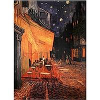 Handmade Van Gogh 'Cafe Terrace on the Place du Forum' Canvas Wall Art (China)