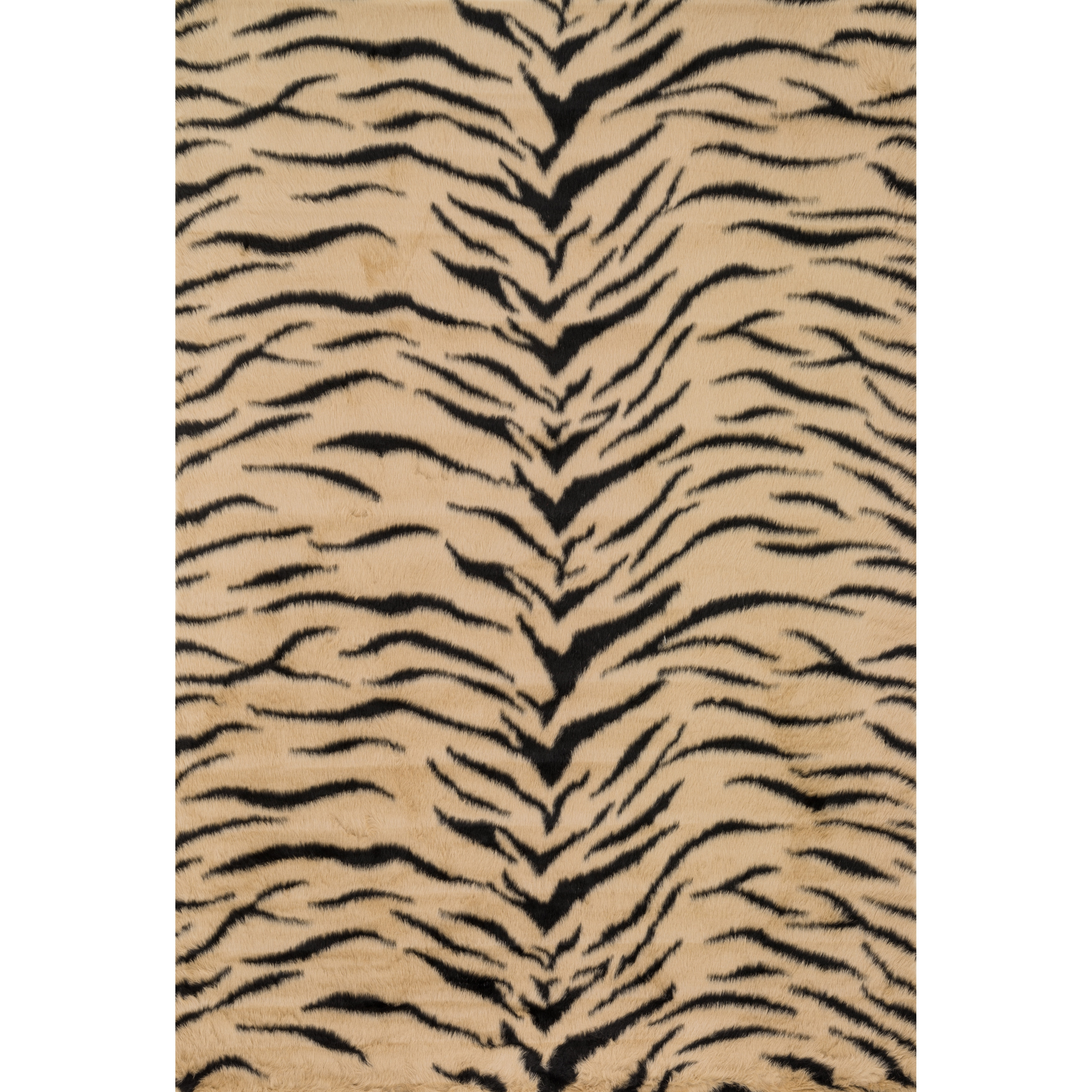 Jungle Faux Fur Tiger Print Animal Rug (2 X 3) On PopScreen
