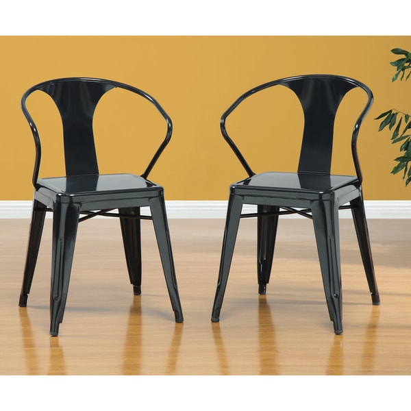 Black Tabouret Stacking Chairs Set Of 4
