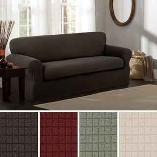 Sure Fit Stretch Stripe 2 Piece T Cushion Sofa Slipcover